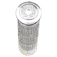 Cut Glass Vanity Jar with Sterling Silver Lid