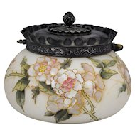 Mount Washington Crown Milano Biscuit Jar Rose Decoration