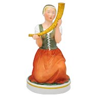 Royal Copenhagen Figurine Girl with the Golden Horn #12242