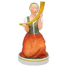 Royal Copenhagen Figurine Girl with the Golden Horn #12242