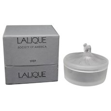 Lalique Society of America 1989 Degas Ballerina Powder Box