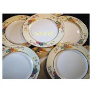 Set of 12 Lenox Oriental  Style Dessert or Salad Plates