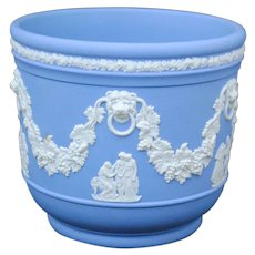 Wedgwood Jasperware Light Blue & White Cache Pot Jardiniere