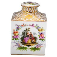 Dresden Porcelain Tea Caddy