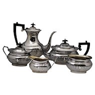 Vintage Sheffield Silver Plate Tea & Coffee Set