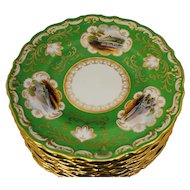 Set of 12 Spode for Tiffany & Co. Cabinet Plates with Castle Scenes