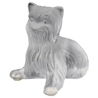 Lalique Yorkshire Terrier Dog Figurine