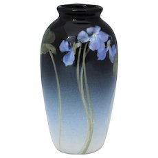 Rookwood 1903 Iris Glaze Vase Violet Decoration by Ed Diers