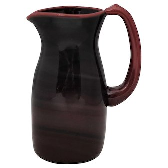 Dominic Labino Red Art Glass Pitcher 1970