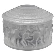 Lalique France Les Enfants Powder Box or Trinket Jar