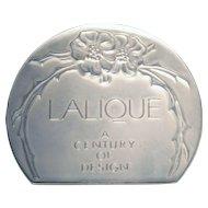 Lalique France Dealer Sign A Century of Design