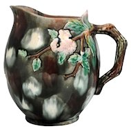 Etruscan Majolica Hawthorne Milk Pitcher Griffin Smith & Hill