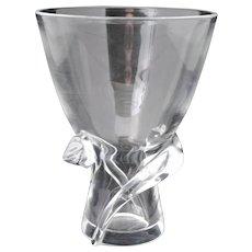 Steuben Crystal Spiral Vase 8058 Designed by Donald Pollard