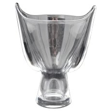 Steuben Crystal Wing Vase SP886 Designed by George Thompson