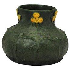 Ephraim Arts & Crafts Matte Green Art Pottery vase by Laura Klein