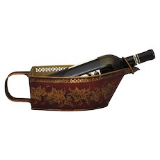 Vintage French Tole Toleware Wine Bottle Holder