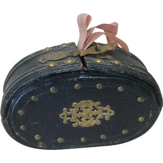 Antique Bebe Purse Pink Silk Lining