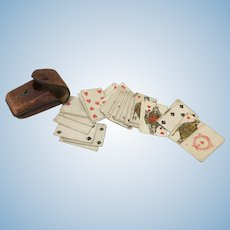 Antique Miniature Playing Cards For French Fashion