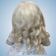 Pale Blonde Replacement Mohair Wig 8 for Bisque Doll