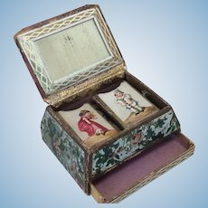 Amazing! Little Antique Sewing Box For French Fashion