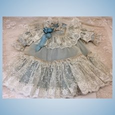 Stunning Lace Dress for French or German Doll