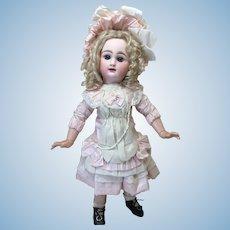 "Seamstress Made Silk Dress & Bonnet 21-23"" Doll"