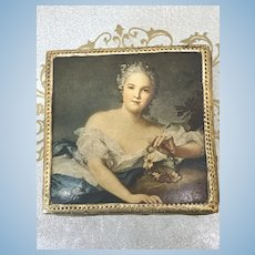 """Lovely 2"""" French Fashion Jewelry Box"""