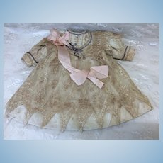 Antique Dress with Lace Overlay