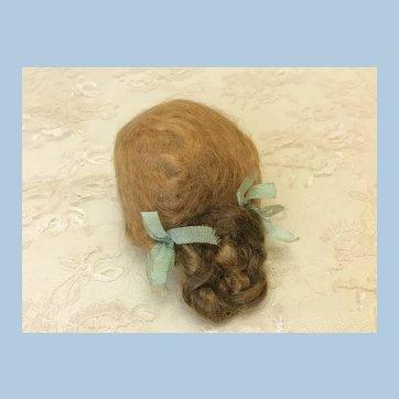"Pretty Antique French Fashion  5 1/2"" Mohair Wig"