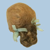 "Pretty Antique French Fashion  5 1/2"" Mohair Wig"