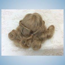 "Antique 5 1/4"" French Fashion Human Hair Wig"