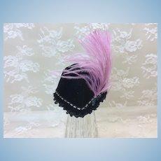 Striking Velvet French Fashion Doll Hat