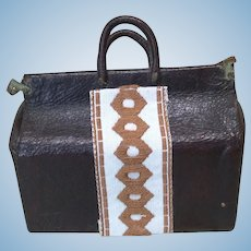 """Antique French Fashion Leather Purse 2"""""""