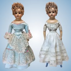 """19"""" Wax Over Doll Fancy Blue Boots"""