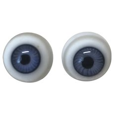 Antique Blue Glass Eyes 15mm