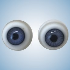 Antique Blue Glass Eyes 15mm
