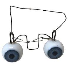 Antique Blue Flirty Glass Eyes