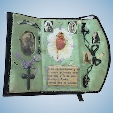 Early Miniature Handmade Religious Booklet