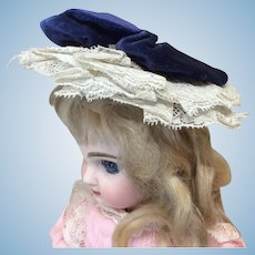 Early Handmade Hat Small Bebe or Fashion Doll
