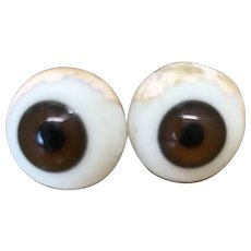20 mm Antique Brown Glass Eyes