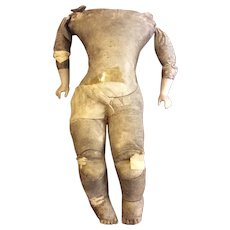 Early French Market Kid Leather Body Cupped Hands Bisque Forearms