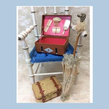 Antique Original French Fashion Toilette Necessaire Suitcase