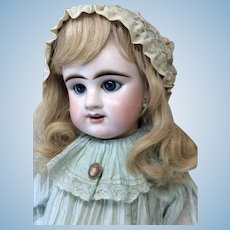 "Lifesize 30"" French Etienne Denamur Bisque Bebe Antique Dress"