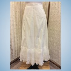Victorian Ladies Full Length Petticoat Slip