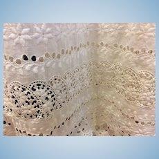 Gorgeous Victorian Whitework Ladies Slip Petticoat