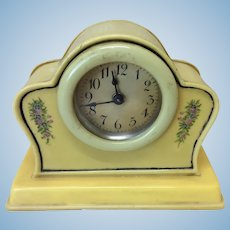 "Early 4"" Celluloid Clock For Doll Display"