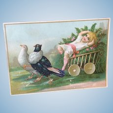 Antique Litho Card For Doll Display