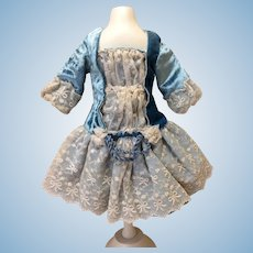 Seamstress Made Velvet and Antique Lace Bebe Dress