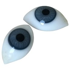 Large 20 mm Antique Threaded Blue Paperweight Eyes