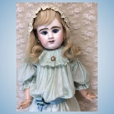 "Blue Eyed Lifesize Bebe 30"" Etienne Denamur Antique Doll"